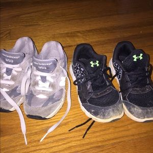 2 pair toddler boy shoes